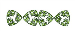 Tribal Leaves Border embroidery design