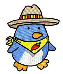 Penguin & Sombrero embroidery design