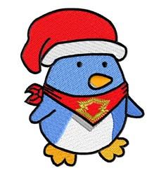 Penguin & Santa Hat embroidery design