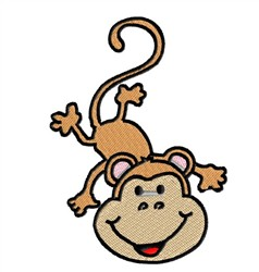 Silly Baby Monkey embroidery design