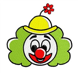 Clown With Flower embroidery design