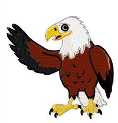 Eagle Waving embroidery design