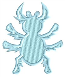 Beetle Silhouette embroidery design