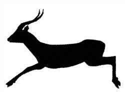 Leaping Antelope embroidery design
