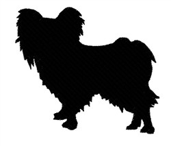 Papillon Silhouette embroidery design