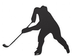 Hockey Player Silhouette embroidery design