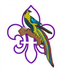 Excotic Bird embroidery design