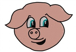 Cute Pig Face embroidery design