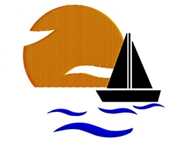 Sailboat Silhouette embroidery design