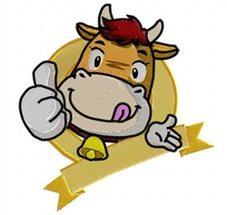 Prize Cow embroidery design