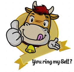 You Ring My Bell embroidery design