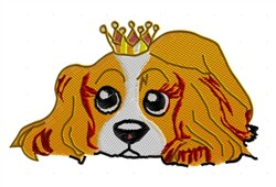 Spaniel Princess embroidery design