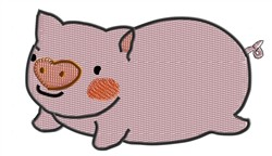 Pig With Heart Nose embroidery design