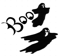 Boo embroidery design