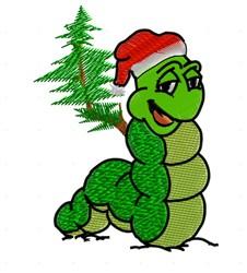 Santa Caterpillar embroidery design