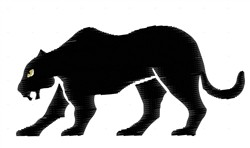 Panther embroidery design