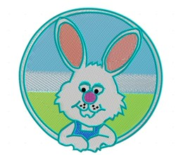 Bunny In Circle embroidery design