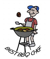 Best BBQ Chef embroidery design