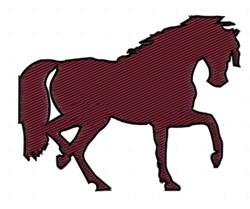 Horse Silhouette embroidery design