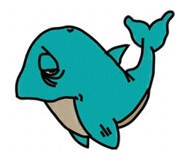 Sad Whale embroidery design