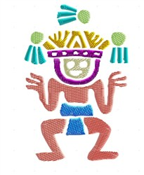 Toltec Juggler embroidery design