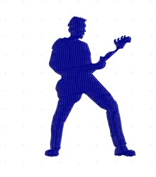 Guitarist Silhouette embroidery design