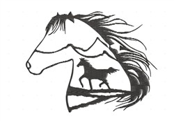 Horse In A Horse embroidery design