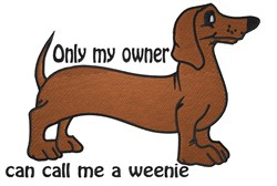 Only My Owner embroidery design