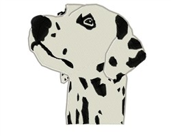 Dalmatian Head embroidery design