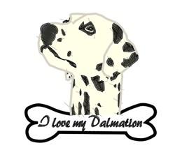 Love My Dalmatian embroidery design