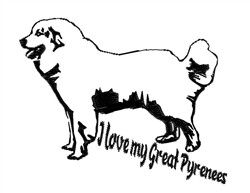 My Great Pyrenees embroidery design