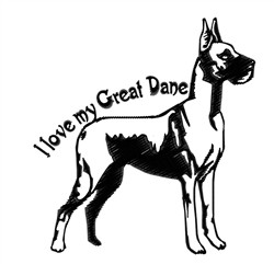 My Great Dane embroidery design