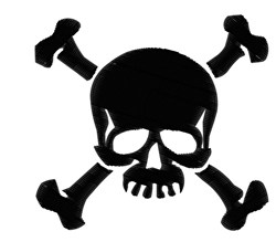 Pirate Skull embroidery design