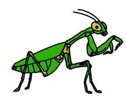 Praying Mantis embroidery design