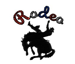 Rodeo embroidery design