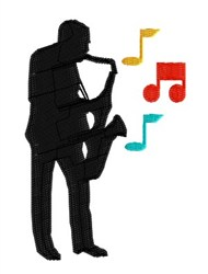 Saxophone Player embroidery design