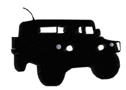 Hummer Silhouette embroidery design