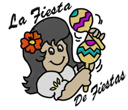 La Fiesta embroidery design