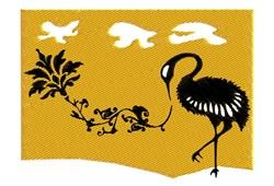 Japanese Crane embroidery design