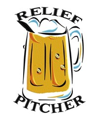 Relief Pitcher embroidery design
