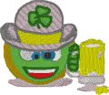 St. Patricks Day Toast embroidery design