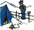 Camp Scene embroidery design