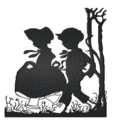 Boy And Girl embroidery design