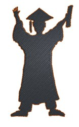 Graduation Silhouette embroidery design