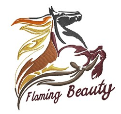 Flaming Beauty embroidery design