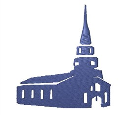 Church Silhouette embroidery design