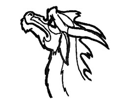 Goat Head Outline embroidery design