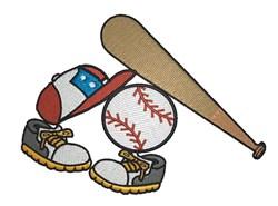 Softball Gear embroidery design