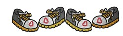 Sneakers  Border embroidery design