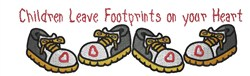 Footprints embroidery design
